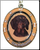 Black Dachshund Spinning Dog Key Chain by E and S Imports