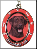 Chocolate Labrador Retriever Spinning Dog Key Chain by E and S Imports