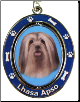 Lhasa Apso Spinning Dog Key Chain by E and S Imports