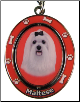 Maltese Spinning Dog Key Chain by E and S Imports