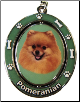 Pomeranian Spinning Dog Key Chain by E and S Imports