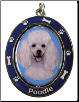White Poodle Spinning Dog Key Chain by E and S Imports