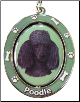 Black Poodle Spinning Dog Key Chain by E and S Imports