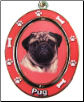 Pug Spinning Dog Key Chain by E and S Imports