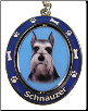 Schnauzer with Cropped Ears Spinning Dog Key Chain by E and S Imports