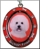 Bichon Frise Spinning Dog Key Chain by E and S Imports