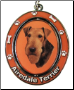 Airedale Terrier Spinning Dog Key Chain by E and S Imports