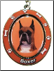 Boxer with Cropped Ears Spinning Dog Key Chain by E and S Imports