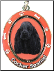 Black Cocker Spaniel Spinning Dog Key Chain by E and S Imports
