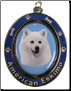 American Eskimo Spinning Dog Key Chain by E and S Imports