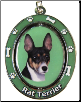 Rat Terrier Spinning Dog Key Chain by E and S Imports