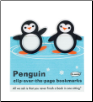 Penguin Clip-Over-The-Page Bookmarks Set of Two by Re-Marks