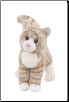 "Zipper Grey Tabby Cat 12"" by Douglas"