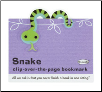 Snake Clip-Over-The-Page Bookmark by Re-Marks