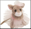 "Tippy Toe Mouse with Tutu 5"" by Douglas"