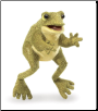 "Funny Frog Hand Puppet 12"" by Folkmanis"