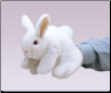 "White Bunny Rabbit Hand Puppet 10"" by Folkmanis"