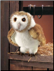 "Barn Owl Hand Puppet 13"" by Folkmanis"