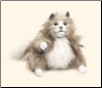 "Fluffy Cat Hand Puppet 14"" by Folkmanis"