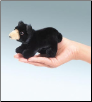 Mini Black Bear Finger Puppet by Folkmanis
