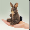 "Mini Jack Rabbit Finger Puppet 6"" by Folkmanis"