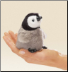 "Mini Baby Emperor Penguin Finger Puppet 4"" by Folkmanis"
