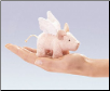 Mini Winged Piglet Finger Puppet by Folkmanis