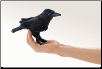 Mini Raven Finger Puppet by Folkmanis