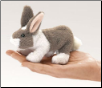 "Mini Bunny Rabbit Finger Puppet 6"" by Folkmanis"