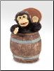 "Monkey in Barrel Hand Puppet 15"" by Folkmanis"