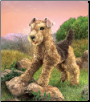"Airedale Terrier Hand Puppet 17"" by Folkmanis"
