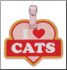 I Love Cats Luggage Tag by LittleGifts