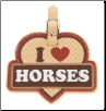 I Love Horses Luggage Tag by LittleGifts
