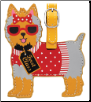 Yorkshire Terrier Yorkie Luggage Tag by LittleGifts