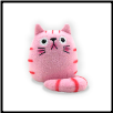 "Dicke Katze Plush Large Cat 9"" – Bubblegum Pink Cat"