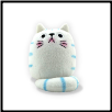 "Dicke Katze Plush Large Cat 9"" – Shi Shi White Cat (SKU: DK-PLLGS01)"
