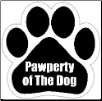 Pawperty of the dog Car Magnet by E&S Pets