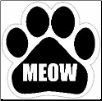 Meow Car Magnet by E&S Pets