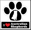 I Love Australian Shepherds Aussies Car Magnet by Little Gifts