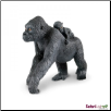 "Wildlife Wonders:  Lowland Gorilla with Baby Figure 4.5"" by Safari Ltd"
