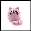 "Dicke Katze Plush Cat w/Key Chain 3"" – Bubblegum Pink Cat"
