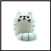 "Dicke Katze Plush Cat w/Key Chain 3"" – Shi Shi White Cat"