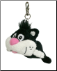 "Cat Mini Chuckle Buddies Key Chain 5"" by jumpin' banana"