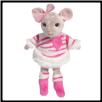 "Candy Heart Mouse with Pink Outfit 9"" by Douglas"