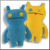 "Double Trouble - Wage Blue/Yellow 14"" Uglydoll by Pretty Ugly"