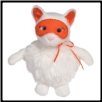 "Cotton Ball Puff White Cat 8"" by Douglas"