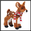 "Delila Fawn with Holiday Scarf 11"" by Douglas"