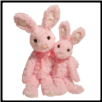 "Carnation Pink Bunny Small 13"" by Douglas"