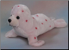"Sally Large Pink Spotted Seal 15.5"" by Wishpets"