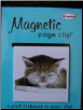 Kitten with Glasses Deluxe Single Magnetic Page Clip Bookmark by Re-marks